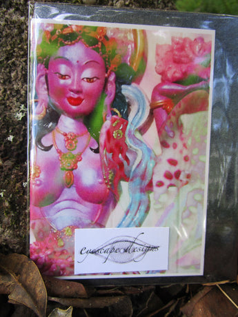 goddess greeting card ~ small Buddhist art print