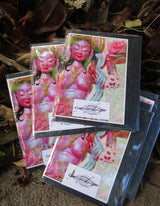 greeting cards ~ buddhist goddess art print ~ small