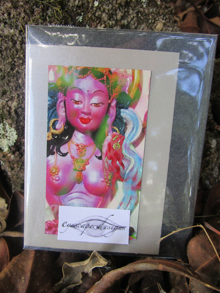 goddess greeting card ~ blank inside ~ buddhist design
