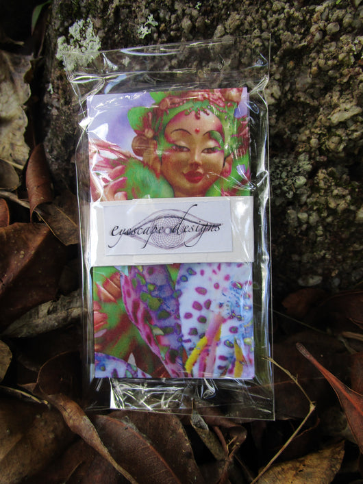 goddess blank tags 5 pack of Princess Mandarava ~ buddhist inspired gift cards