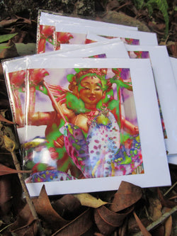 Goddess Greeting Card ~ Princess Mandarava