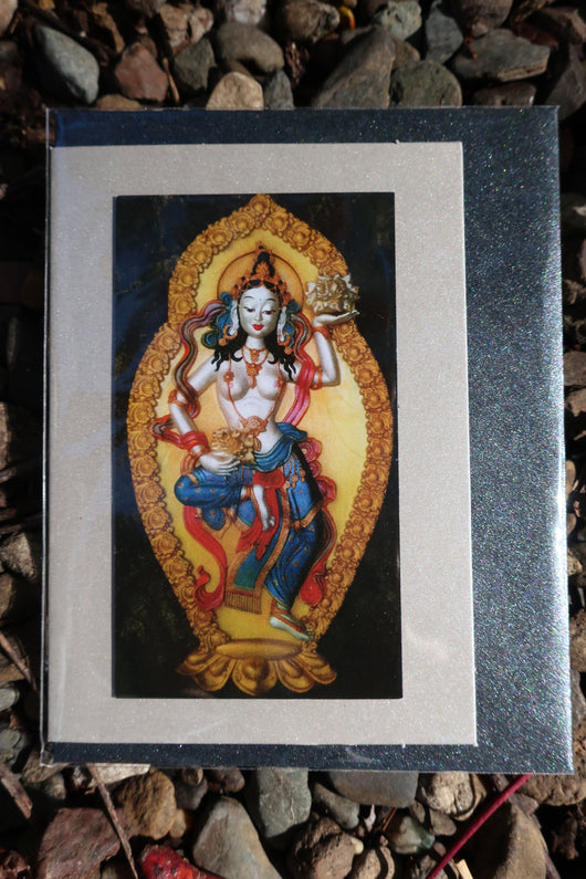 goddess greeting card ~ magnet front ~ small buddhist card
