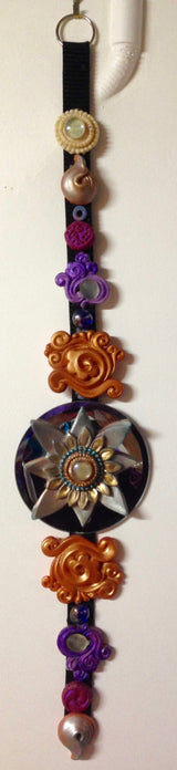 sculpted buddhist home decor ~ dharma dangle w/ blue lotus