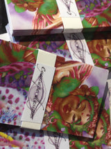 close up of 5 pack gift tags featuring Princess Mandarava psychedelic photo