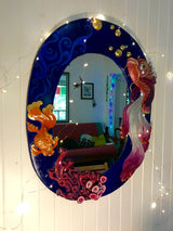 A Little Bit Fishy - Original Hand Sculpted Mirror