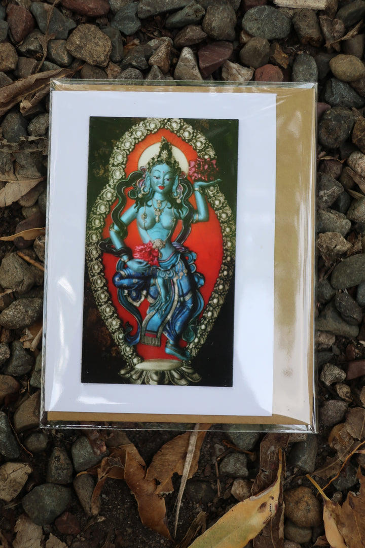 blue goddess magnet front gift card