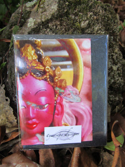 goddess greeting card ~ blank ~ small pink