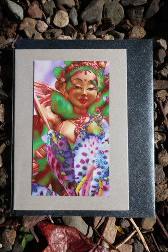 goddess magnet front greeting card ~ small silver
