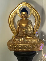 Gold on gold Medicine Buddha Statue 13inch