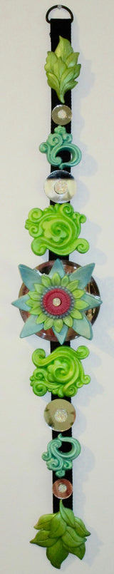 green lotus buddhist inspired sculpted wall decor