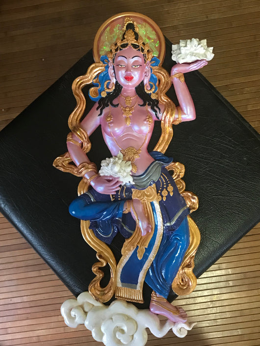 Offering Goddess ~ Free Floating ~ pink & blue
