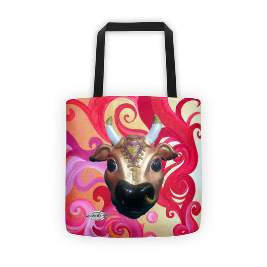 Tote bag ~ Sunset Swirl Karma Cow