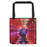 Tote bag ~ psychedelic Karma Cow design