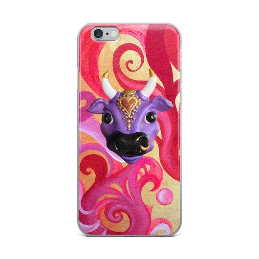 iPhone Case ~ Swirly Karma Cow Design