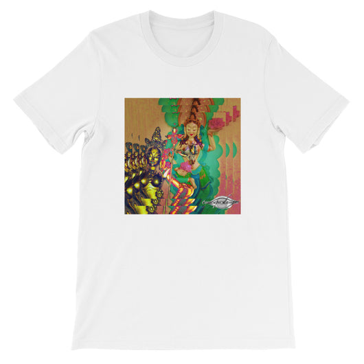 Short-Sleeve Unisex T-Shirt ~ 100% cotton ~ triple psychedelic green goddess print