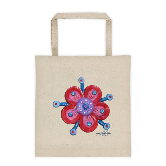 Tote bag ~ Red Flower