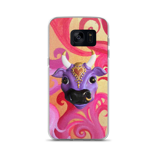 Samsung Case ~ Swirly Karma Cow Design