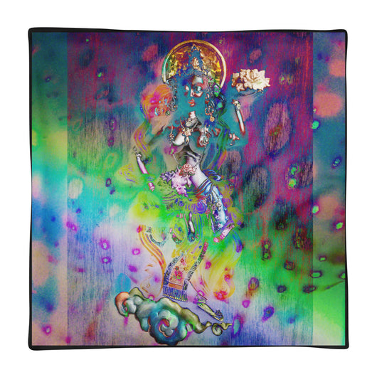 Square Pillow Case only ~ printed with psychedelic Rainbow Goddess