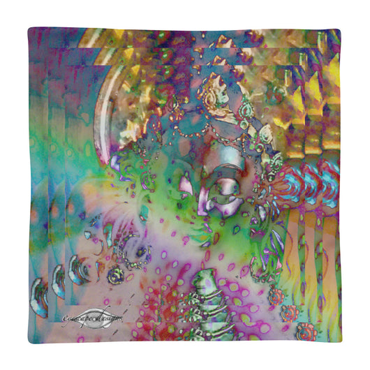 Square Pillow Case only ~ triple rainbow psychedelic Goddess