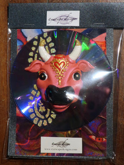pink Karma Cow fridge magnet