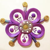 purple flower fridge magnet 3d