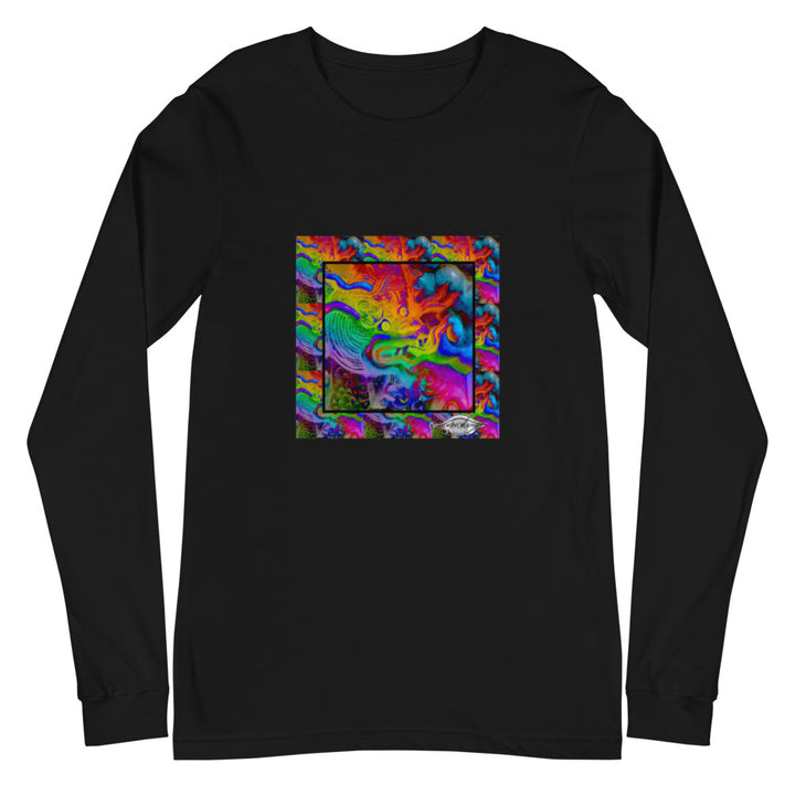Unisex Long Sleeve Tee ~ rainbow dragon