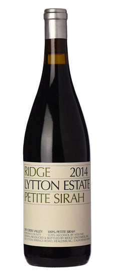 Ridge Petite Sirah Lytton Estate Dry Creek Valley 2014