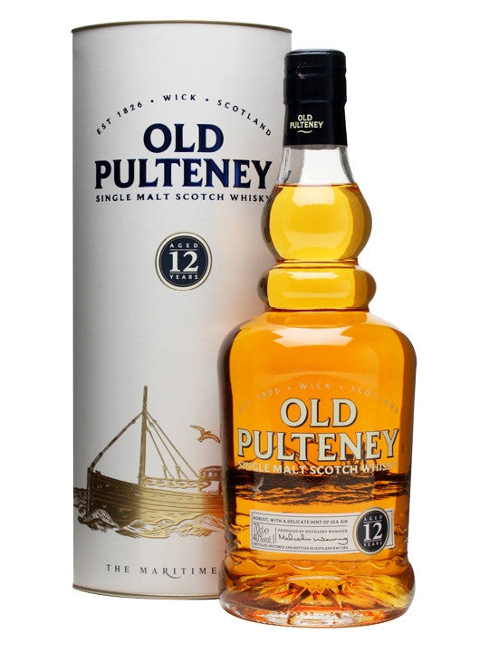 Old Pulteney 12 Year Single Malt Scotch Whiskey - Wine Globe