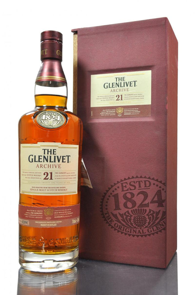 Glenlivet 21 Year Single Malt Scotch - Wine Globe