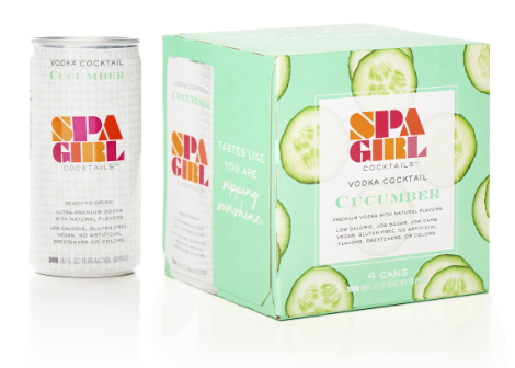 Spa Girl Cocktails Cucumber Cans Vodka Quarantini Special