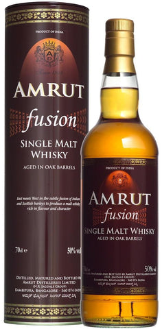 Amrut Fusion Single Malt Whiskey - Wine Globe