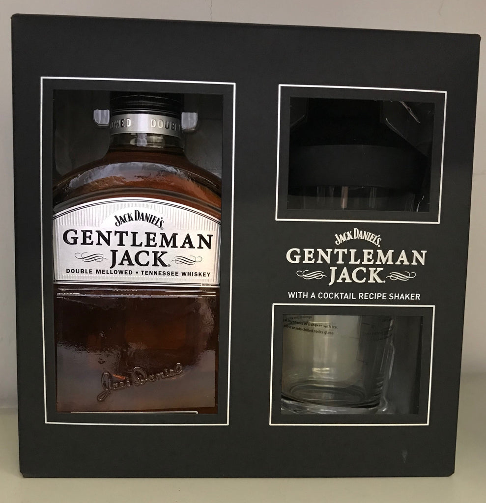 Jack Daniel's Gentleman Jack with cocktail shaker