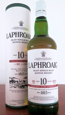 Laphroaig Cask Strength 10 Year Single Malt Scotch