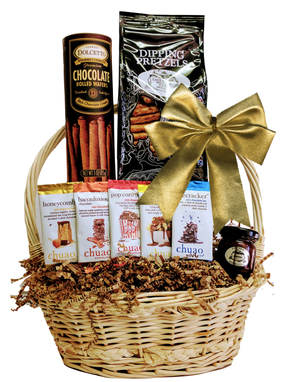 Wicker Handled Gift Basket - Add Any Bottle - Wine Globe