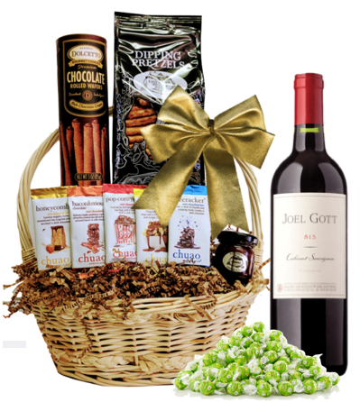 Gott Red Gift Basket - Wine Globe