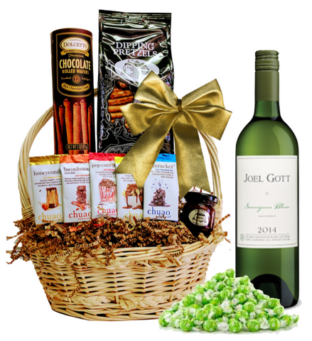 Gott White Gift Basket - Wine Globe