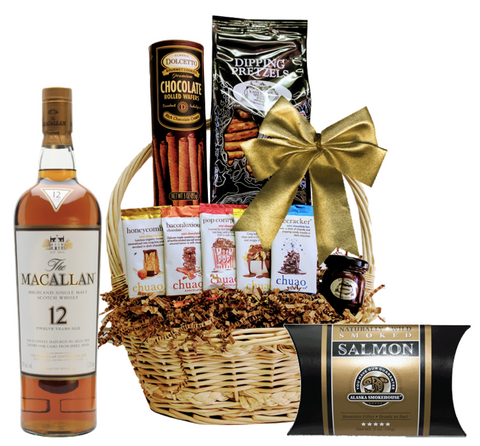 Macallan Single Malt Gift Basket - Wine Globe