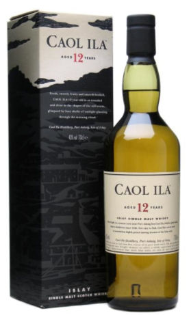 Caol lla 12 Year Old Islay Single Malt Scotch Whisky