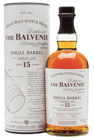 Balvenie 15 Year Sherry Cask Single Malt Scotch