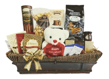 Valentine Love Rustic Gift Basket - Add Any Bottle