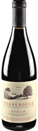 Terre Rouge Syrah Sentinal Oak Vineyard Pyramid Block 2012