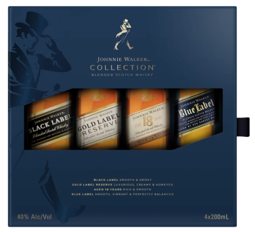 Johnnie Walker Blue Collection Gift Set (4x200ML)