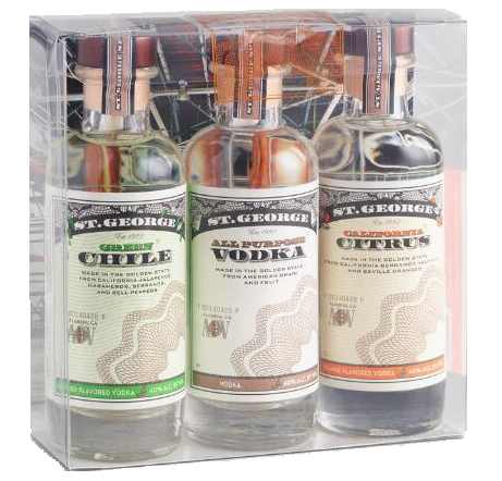 St. George Vodka Gift Set Sampler (3 x 200ML)