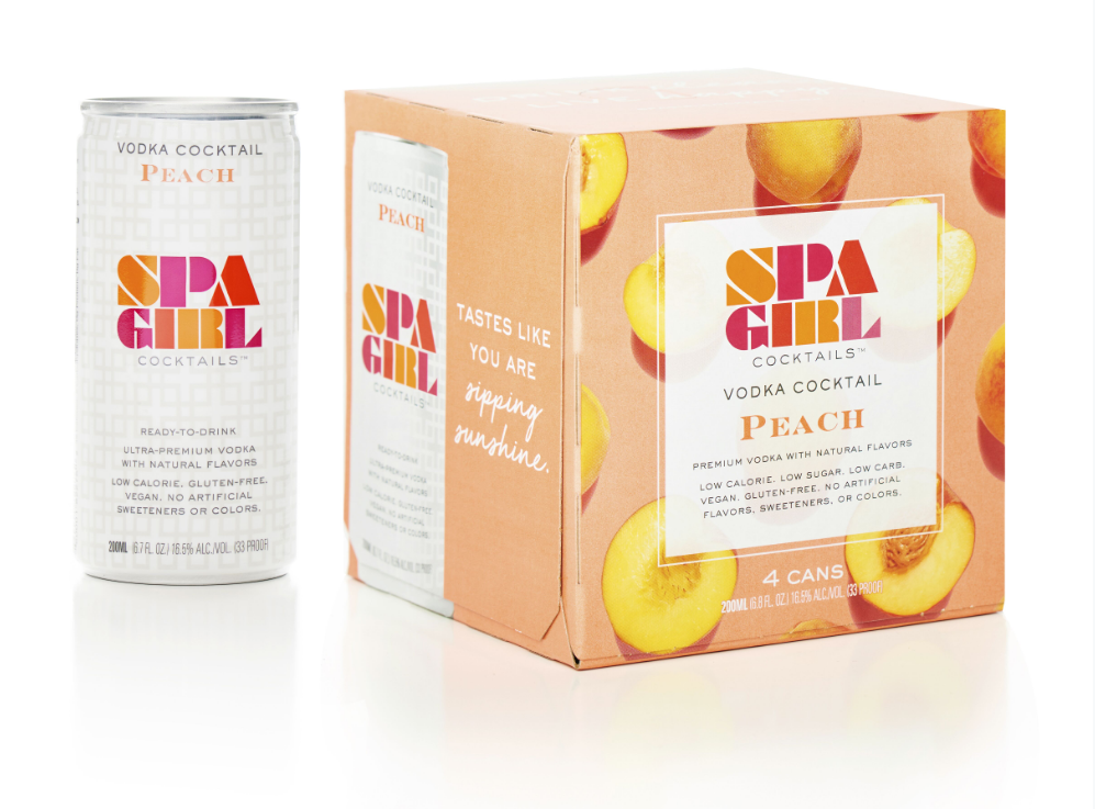 Spa Girl Cocktails Peach Cans Vodka Quarantini Special