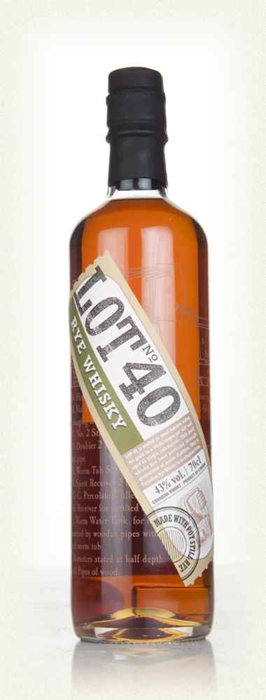 Lot 40 Single Copper Pot Still Canadian Rye Whisky