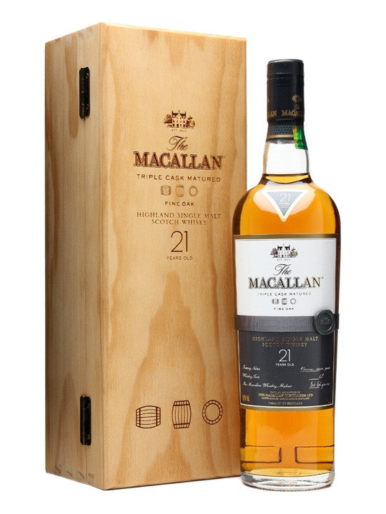 Macallan Fine Oak 21 Year Single Malt Scotch - Wine Globe