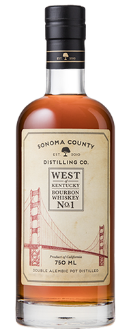 Sonoma County West of Kentucky No. 1 Blue Corn Cask Strength Bourbon