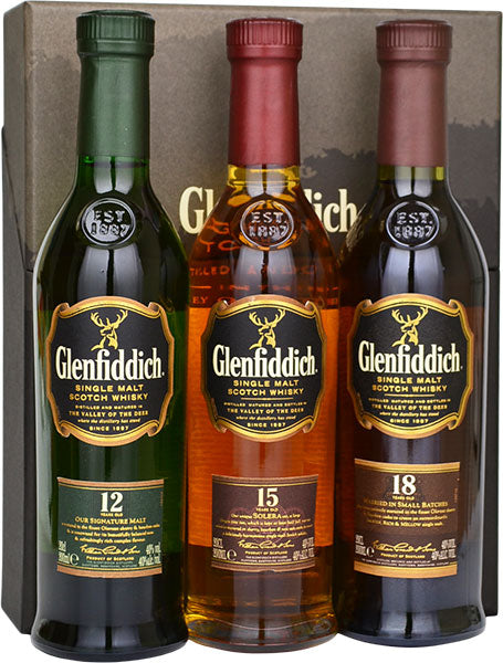 Glenfiddich Trio Gift Pack (200 ML)