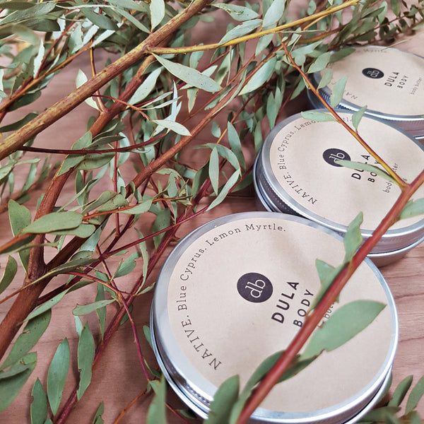 body butter DULA, vegan skincare, clean skincare, natural organic Australian made, no nasties, clean beauty