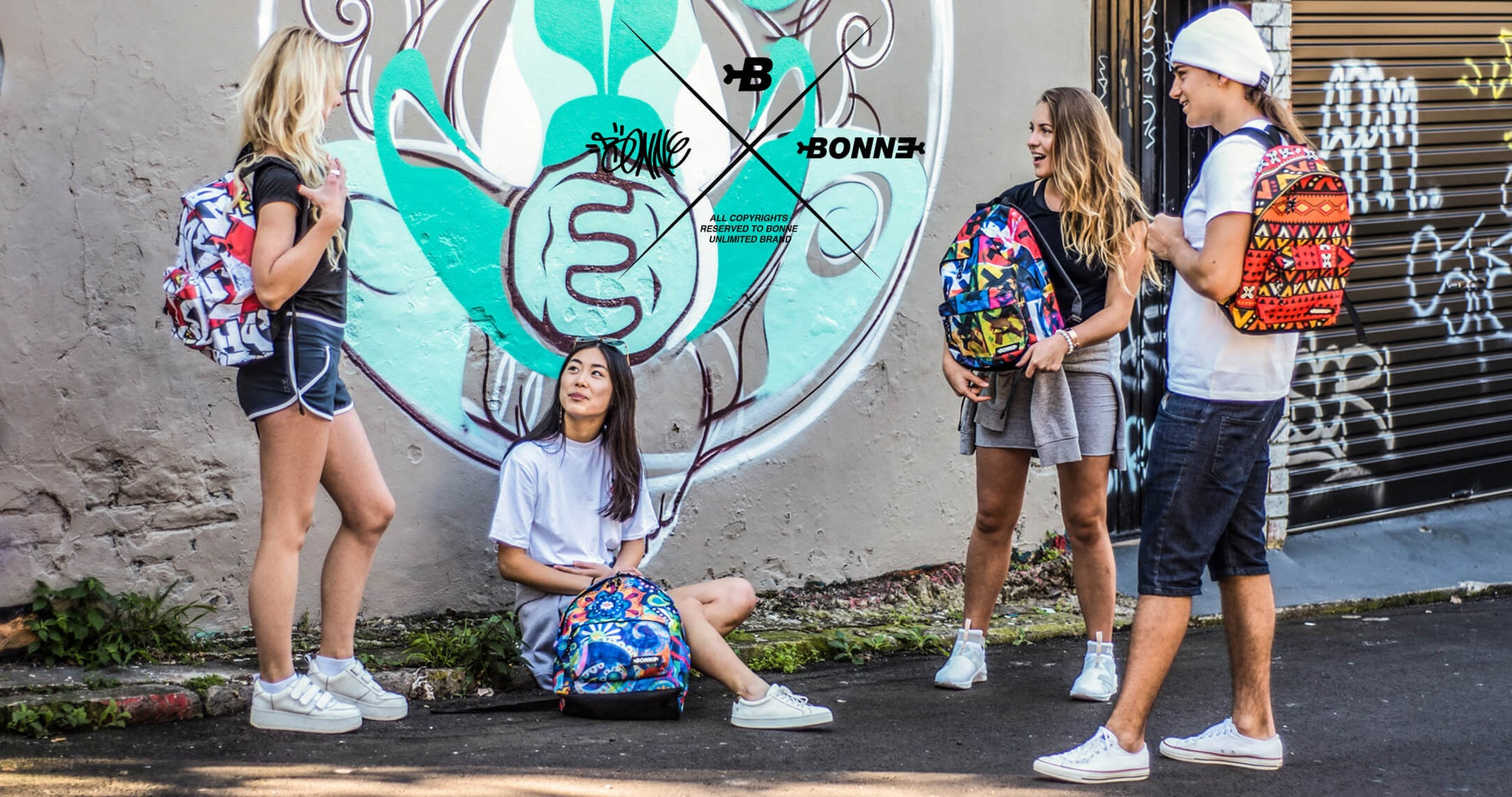 Unique urban backpacks, pencil cases, wallets, messenger bags, laptop backpacks, laptop messenger bags, luggage, laptop satchels and accessories insipired by Grafitti, Hip Hop, Skate and Surf by Bonne